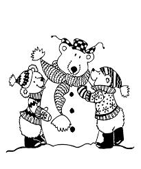 Kleurplaat Een Sneeuwbeer Maken Crayolabe