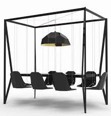 unique furniture ideas. Furniture, Black Hanging Dining Chair Modern Unique Furniture Ideas ~ Decorative With Adorable And Creative Design T
