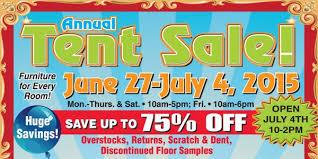 Annual Tent Sale June 27 July 4 2015 Walnut Creek Furniture