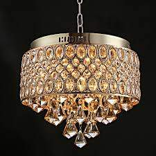 Ciffostmodern Crystal Diamond Chandeliers French Gold