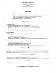 Sample College Resumes For High School Seniors 13 Example Of