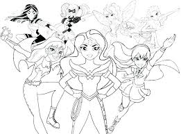 Superheros Coloring Pages Superhero Halloween Dc Oasisescapesco