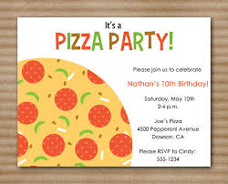 Pizza Party Invitation Templates Pizza Party Flyer Template Free Pizza Party Invites Template