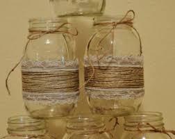 Mason Jars Decorated With Twine Twine mason jar Etsy 22