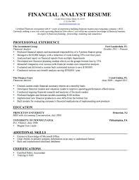Stunning Financial Analyst Resume Sample Pdf Photos Example