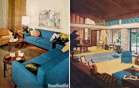 mid century modern design. Midcentury Modern Design, As Shown In House Beautiful Issues From 1960. Mid Century Design E