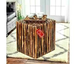 side table made from real wood wooden