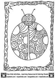 Small Picture Coloring Page Ladybug Pages 2 For Girls Free Printable Kids