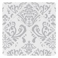 Damask Memo Board Interesting Gray And White Damask Fabric Memo Board