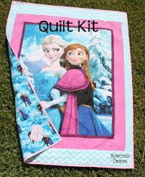 22 best Frozen Quilt Ideas images on Pinterest | Hand embroidery ... & Frozen Quilt Kit Panel Baby Toddler Bedding Disney Fabrics Spectrix Anna  Elsa Krista Olaf Baby Blanket Adamdwight.com