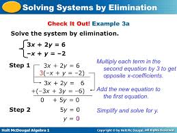 example 3a solve the system by elimination 3x 2y
