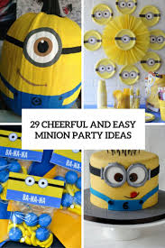 cheerful and easy minion party ideas cover