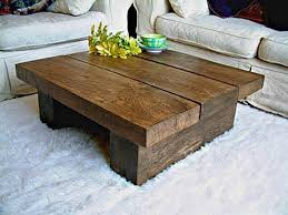 rustic wood coffee and end tables
