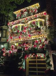 unique christmas lighting. Decorated House On Castro Street, San Francisco, USA (by Phil Dokas). One Day, I Want To Go Christmas Light Strolling Where They All Out With Decorating! Unique Lighting S
