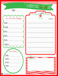Christmas Wish List Printable Childrens Christmas Wishlist Printable It's A Lovely Life 6