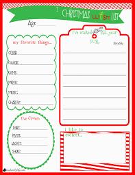 Christmas Wish List Printable Childrens Christmas Wishlist Printable It's A Lovely Life 6