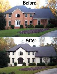 painting exterior brick white painted exterior brick home ideas