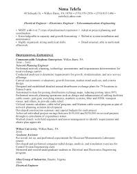 Example Of Resume Template Electrical Engineer Resume Template