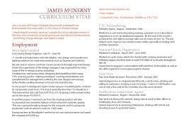 cv by jim mcinerny at com cv and mini portfolio jpeg of the first page of my cv see pdf for able version
