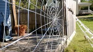How To Make A Giant Spider Web Amazing Spiderweb Decoration Homemade Halloween Youtube