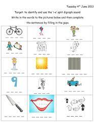 If you decide word families (also known as analogy phonics) might be something you'd like to try, read on! Split Digraph I E Worksheet With Extension Teaching Resources