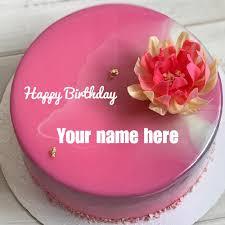 write your name on brithday cakes