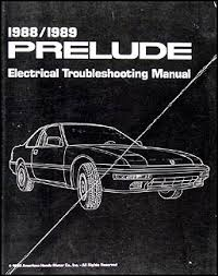 1988 1989 honda prelude electrical troubleshooting manual original