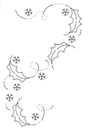 Christmas Doodle Snow Flakes And Holly