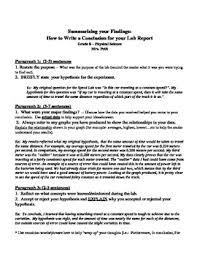 lab report procedure gravy anecdote lab report procedure