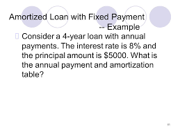 81 amortized loan with fixed payment example