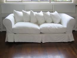 cool couch cover ideas. Well Liked White Fabric Slipcover Double Seater Bridgewater Cool Couches  With Chic Cushions On Dark Brown Wooden Living Room Flooring Ideas Cool Couch Cover Ideas