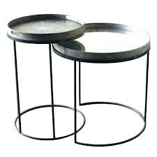 round particle board decorator table decorative tray tables set by 3 leg decorating styles