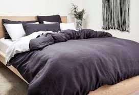 dark grey bed linen nook by lorraine lea