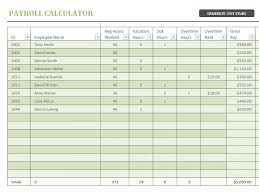 excel payroll template payroll calculator office templates