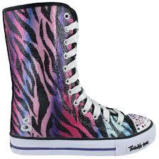sketchers twinkle toe boots. girl\u0027s skechers, twinkle toes shuffles notorious light-up shoes | kids peltz sketchers toe boots