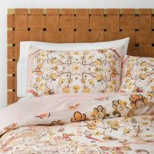 details about new target opalhouse desert rose medallion duvet cover sham set twin twin xl