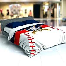 baseball comforter bedding queen twin personalized duvet red white blue bed sheets full size