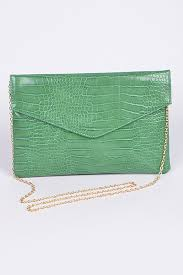 croc clutch green bag purses wallets
