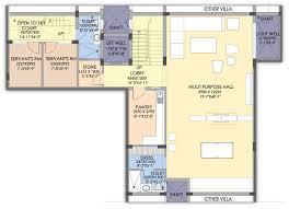 Floor Plans  SS The Hibiscus  Sector  Gurgaon  GurgaonVilla  II   Sq  Ft     Basement