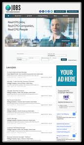 social media promotion cpg jobs rectangle and skyscrapper ads on the cpgjobs job board