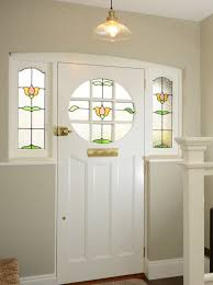 if the stained glass in your period front door has been damaged it is possible to replicate the existing design with new stained and leaded glass