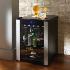 Glass Door Home Refrigerator Evolution Series Beverage Wine Center Refrigerator Black Glass