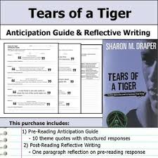 best tears of a tiger images a tiger created by  get students making big picture connections this tears of a tiger anticipation guide