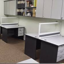 small office workstations. Office-workstations-with-tables-and-small-partition-divider- Small Office Workstations