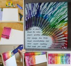 diy canvas wall art ideas and tutorials multicolored heart with melted crayons on canvas wall art diy ideas with how to diy melted crayon canvas art