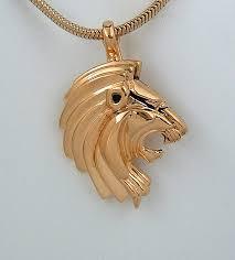 lion pendant enhancer in 18k gold plated sterling
