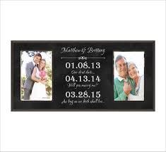 personalized wall clock wedding gift india special dates frame personalized wedding anniversary