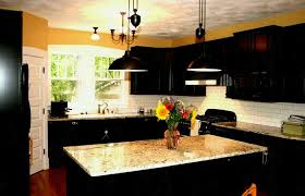 What Color To Paint Kitchen With Dark Cabinets Awesome Ideas