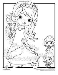 Strawberry Shortcake Coloring Sheets Koshigayainfo