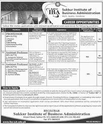 sukkur institute of business administration sukkur jobs on 08 sukkur institute of business administration sukkur jobs